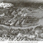 River Tees from the air 1920s
